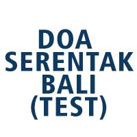 Doa Serentak Bali (test)